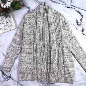 Lou & Grey heavy knit open front cardigan Sz M